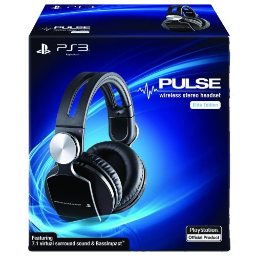 Sony Pulse Wireless Stereo Headset Elite Edition Ps3 Headphones