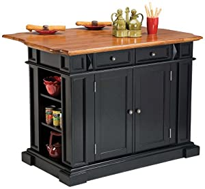 Home Styles 5003 94 Kitchen Island Black And Distressed Oak Finish Kitchen Dining