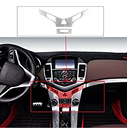 See 9 Moon Stainless Steel Car Interior Console Panel Sticker Trim for Chevrolet CRUZE 2009-2013 Details
