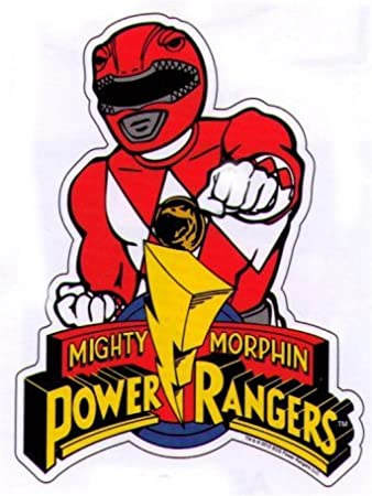 Mighty morphin power rangers red ranger sticker