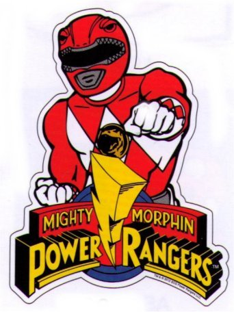 Mighty Morphin Power Rangers Red Ranger Car Magnet