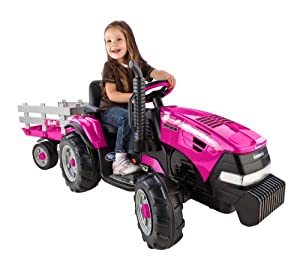 Amazon.com: Peg Perego Case IH Magnum Tractor Ride On with