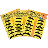 Super Z ® Fake Mustache Novelty and Toy, Pack of 36 Mustaches