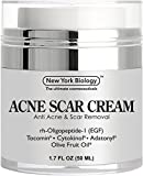 Acne Scar Cream from New York Biology - EGF Anti Acne Cream Helps Get Rid of Acne Scars while Hydrating & Regenerating Skin - 1.7 fl oz