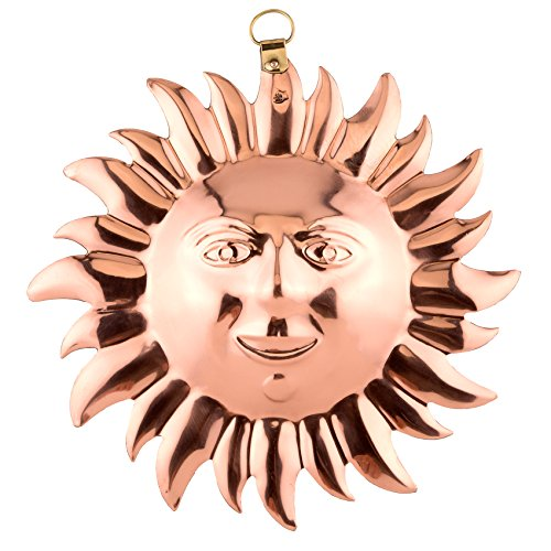 Old Dutch Solid Copper Sun Face Mold front-521170