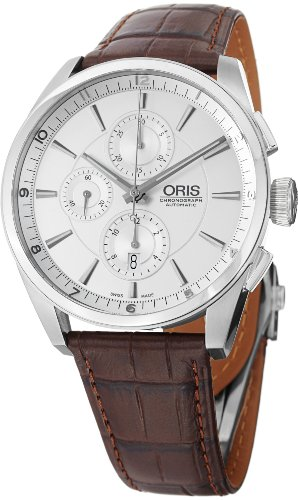 Oris Artix Silver Dial Chronograph Mens Watch 674-7644-4051LS