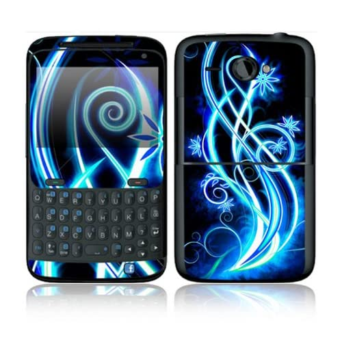 Neon Flower Design Decorative Skin Cover Decal Sticker for HTC Status Cell Phone