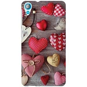 HTC Desire 820 Back Cover - Cushion heart Designer Cases