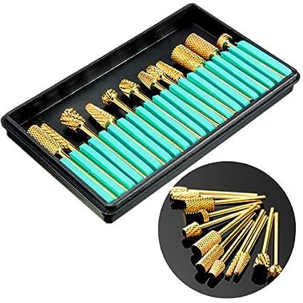 Generic-12Pcs-Electric-Gold-Aluminium-Grinding-Polishing-Machine-Manicure-Pedicure-Heads-Nail-Drill-Bits-Set