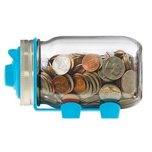 Jarware Piggy Bank, Blue (Mason Jar Bank compare prices)
