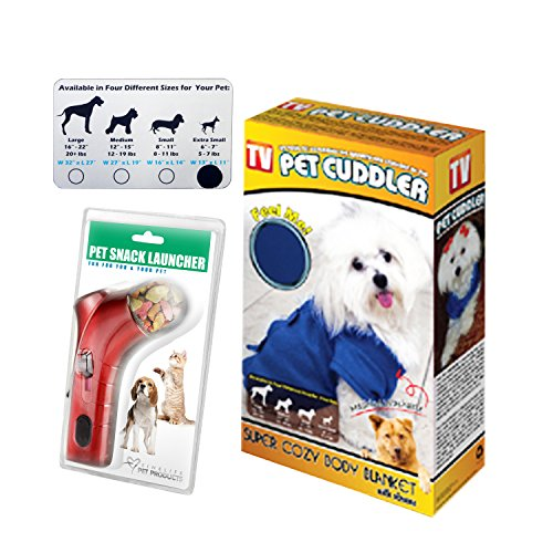 Top Unique Quirky Dog Cat Lover Sweater Gift Set with Treat Launcher Valentines Day After Christmas Clearance Sale Gift Idea Toy Women (Extra Small)