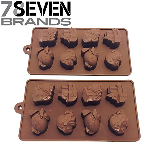 78Seven Silicone Molds 2 Set of Transportation Character Silicone Mold Trays. SUPER VALUE. Get It NOW! (Bugs Bunny Spoon compare prices)