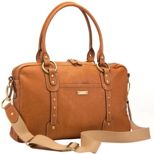 Storksak Elizabeth Leather Diaper Bag, Tan - 1