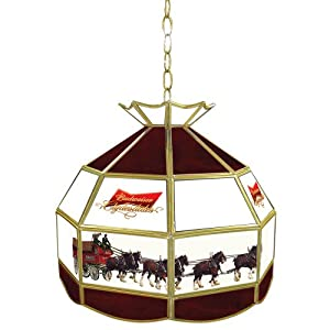 """Budweiser """"Clydesdales"""" Tiffany Gameroom Lamp, 16"""""""