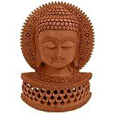 Jaipur Raga Religious Buddha Statue Carved Wooden Gift Handicraft Gift