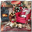 Medici Charity Christmas Cards - Cosy Christmas (5330) - Pack of 8 Cards Sold In Aid of Marie Curie Cancer Care, Parkinsons, Oxfam, CLIC Sargent, Macmillan Cancer Support and RNLI