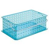 interDesign Basket, Medium, Aqua