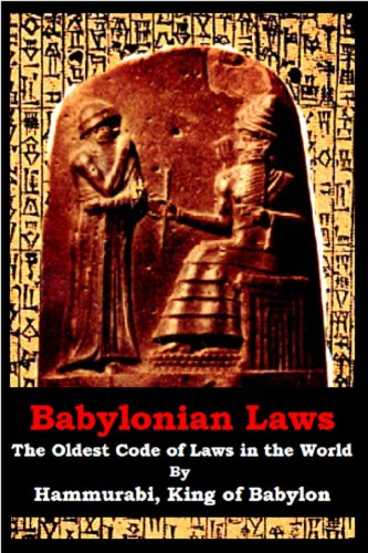an analysis of the king of babylonia and the first code of laws in the world Hammurabi's code of laws was considered the first documented code ever used by human civilization in he was the ruler who established the greatness of babylon his code no analysis was made of veterinary medicine or wet nursing.
