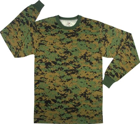 5494 WOODLAND DIGITAL CAMO LONG SLEEVE T-SHIRT Army Universe Tees ... 662f1fbb990