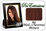 "Pro Extensions, 14"" x 39"" #6 Medium Brown 100% Clip on in Human Hair Extensions by Brybelly.com"