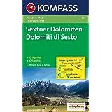 """Sextner Dolomiten/Dolomiti di Sesto 1 : 25.000: Wander- und Bikekarte. Dolomiti di Sesto. Carta escursionistica e cicloturistica. GPS-genauvon """"geosmile"""""""