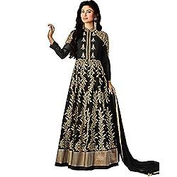 Vasu Saree Cute Black Lace Designer Floor Length Salwar Suit