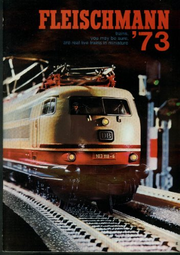 Fleischmann Ho & N-Scale Electric Trains & Motor Racing Catalog 1973