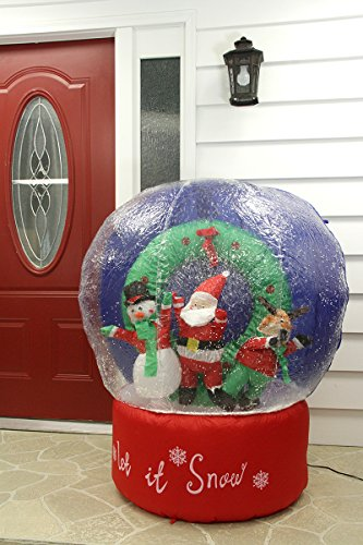 4' Airblown Inflatable Santa And Friends Snow Globe Lighted Christmas Yard Art front-817399