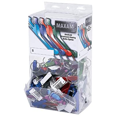 Maxam 100pc Bottle Opener Keychains In Countertop Display