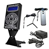 Digital Dual Hurricane Tattoo LCD Power Supply Clip Cord SS Pedal (PS-018C3S)