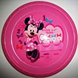 Minnie 8.5 Plate, Flip Top Snack Container, 17 Oz Pull Top Bottle & 4pc Flatware Set