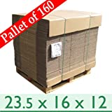 160 x Strong Postal Mailing Cartons - Double Wall Cardboard Boxes - 23.5