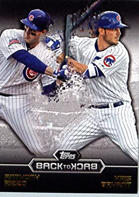 2016 Topps Back-To-Back #B2B-2 Kris Bryant/Anthony Rizzo Chicago Cubs Baseball Card-MINT