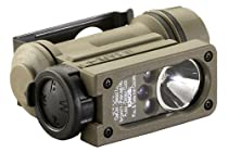 Streamlight 14514 Sidewinder Compact II Military Model Angle Head Flashlight, Headstrap and Helmet Mount Kit