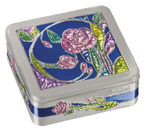 Churchill's Rose Garden Tin with Fruit and Lemon Biscuits 200 g