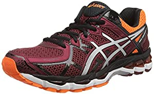 ASICS Gel-Kayano 21, Men's Training Running Shoes, Red (Deep Ruby/Silver/Hot Orange 2693), 9.5 UK (44.5 EU)