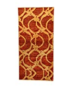 Design Community By Loomier Alfombra Oz Ziegler Mirage (Rojo/Oro)
