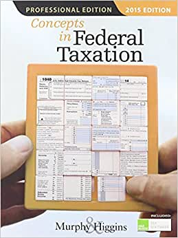 Concepts In Federal Taxation 2015, Professional Edition (with H&R Block(TM) Tax Preparation Software CD-ROM)