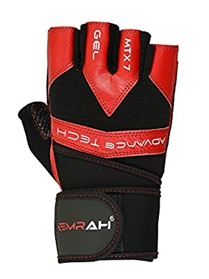 EMRAH WEIGHT LIFTING Gloves Fitness Training GLOVES Gym Workout Gel Gloves R from EMRAH