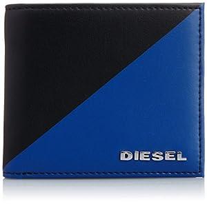 [ディーゼル] DIESEL メンズ 財布 HIRESH S - wallet X03099P05190073UNI P0519H1146 (ブラックXブルー/)