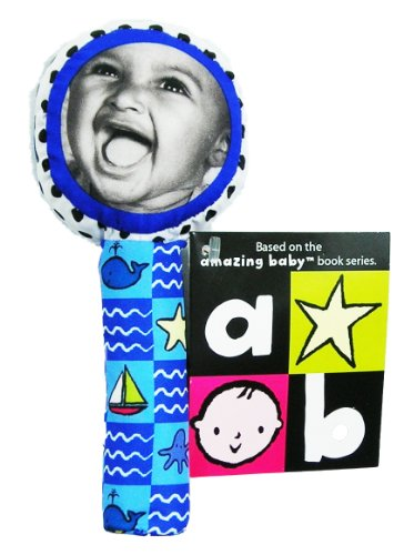 Amazing-Baby-Lolly-Pop-Squeaker-Mirror-Stick-Rattle-Blue