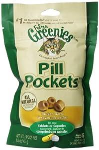 Greenies Feline Pill Pockets Chicken 1.6oz