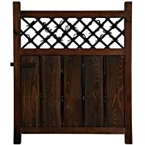Big Sale Oriental Furniture Simple Rustic Beautiful, 3-Feet Tall Japanese Garden Gate Wooden Fence Door WD96232