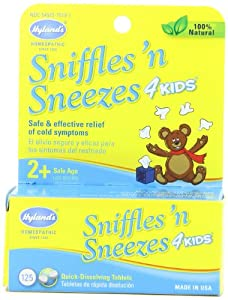 Hyland's Sniffles 'n Sneezes 4 Kids, Boxes (Pack of 6)