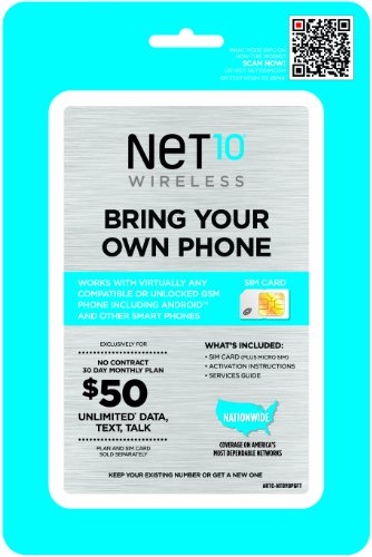 AT&T Compatible SIM Card (Net10) (Net10 Service Plan Card compare prices)