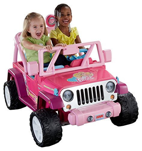Great Features Of Power Wheels Barbie Jammin Jeep Wrangler, Dark Pink