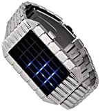 Sub Zero - Japanese Inspired Blue LED Wrist Watch w/ Onyx Metal Strap