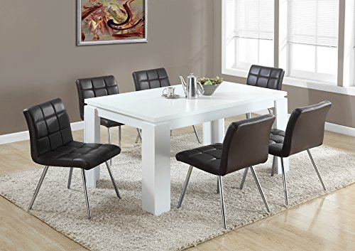 Monarch specialties white hollow core dining table 36 x for Dining room table 60 x 36