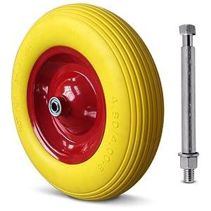 brouette roue pu 4pr essieu rigide roue. Black Bedroom Furniture Sets. Home Design Ideas
