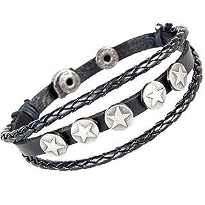 MULBA Cuir Fashion Style Bracelet Cuff Bracelet Homme Bracelet Wrap Sl2733